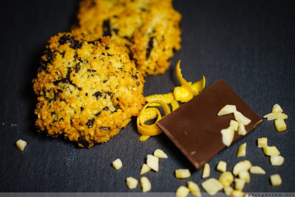 Orangen-Schokoladen-Kekse, Low Carb, Zuckerfrei, Mandeln, Diät