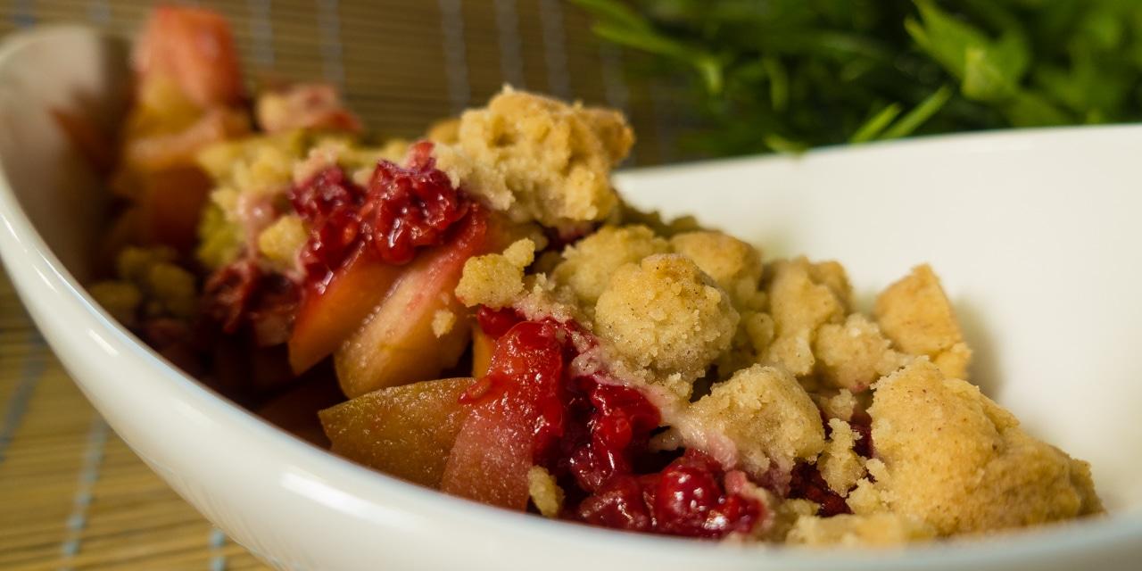 Rezept: Fruchtig-zimtiger Applecrumble – perfekte Resteverwertung für Obst