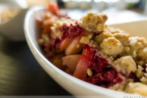 Applecrumble, Apfel, Obst, Resteverwertung, gesund, lecker, preiswert, günstig, schnell fertig, für Gäste, Dessert, Nachtisch