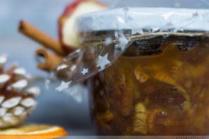 Bratapfel, Marmelade, Amaretto, Rosinen, Rezept, DIY, Weihnachten, Geschenk aus der Küche