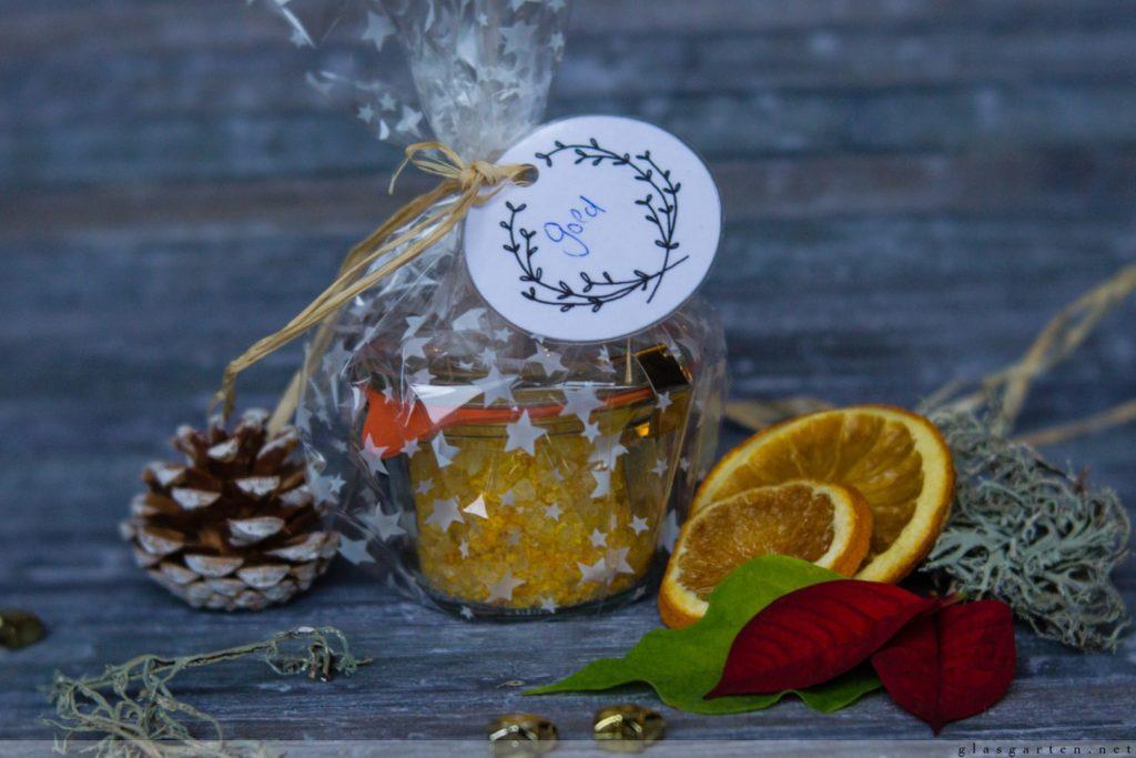 Orangensalz, Rezept, geschenk aus der Küche, Rezept