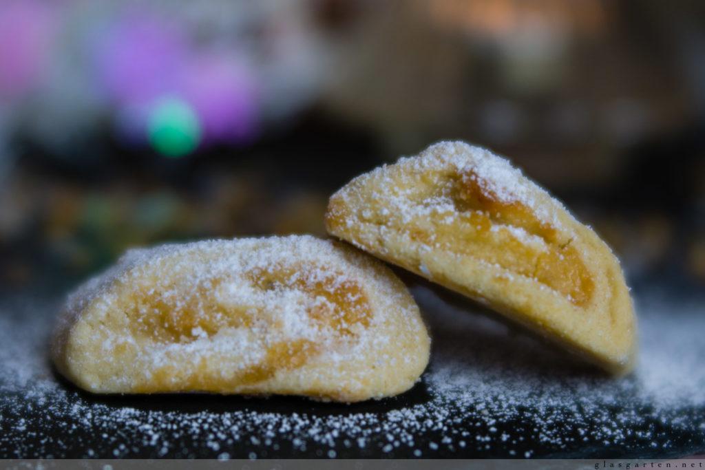 Weihnachten, Gebäck, Kekse, Plätzchen, Marzipan, Marzipanwölkchen, simpel, lecker,